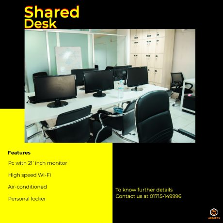 Shared desk facilities and image